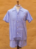 Derek Rose Short Pyjamas Blue