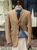 Bladen Shelton Beige Windowpane Tweed Jacket