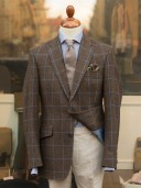 Bladen Shelton Brown Windowpane Tweed Jacket