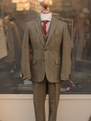Bladen Harris Tweed Brown Check Three-piece Suit