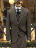 Bladen Harris Tweed Olive HB Three-Piece Suit