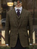 Bladen Harris Tweed Bottle Green Gunton Jacket