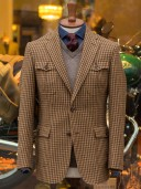 Bladen Gunton Shepherd's Check Norfolk Jacket Brown
