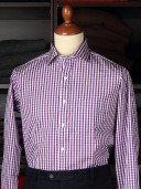 Rayner &amp; Sturges Gingham Check Lilac Poplin Shirt